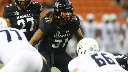 Hawaii linebacker Jahlani Tavai.