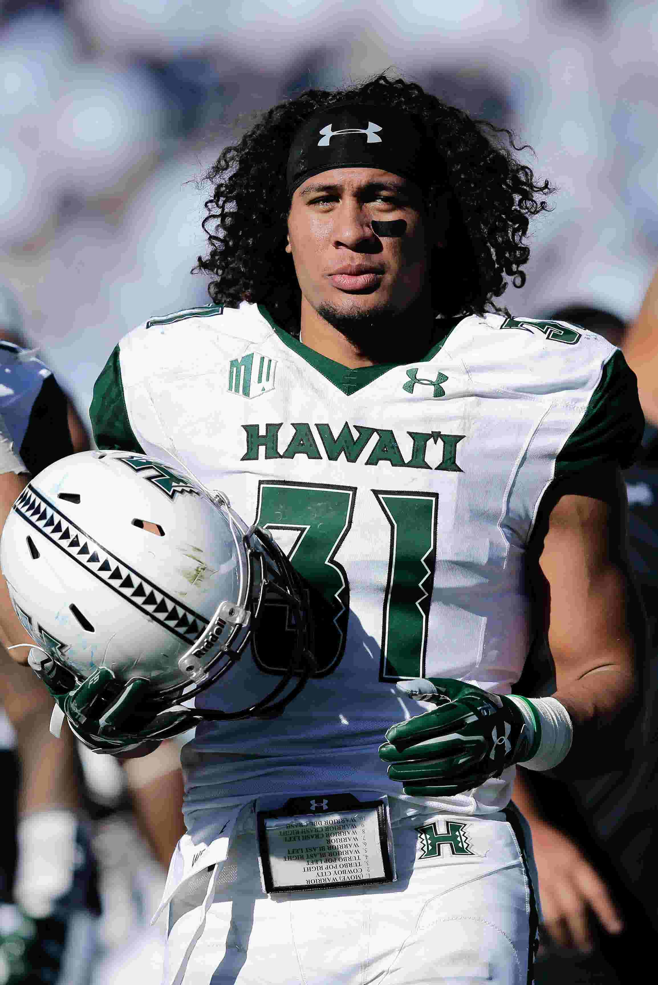 finest selection 7d18c d0340 Meet the Detroit Lions' 2019 second-round pick: Hawaii LB Jahvani Tavai