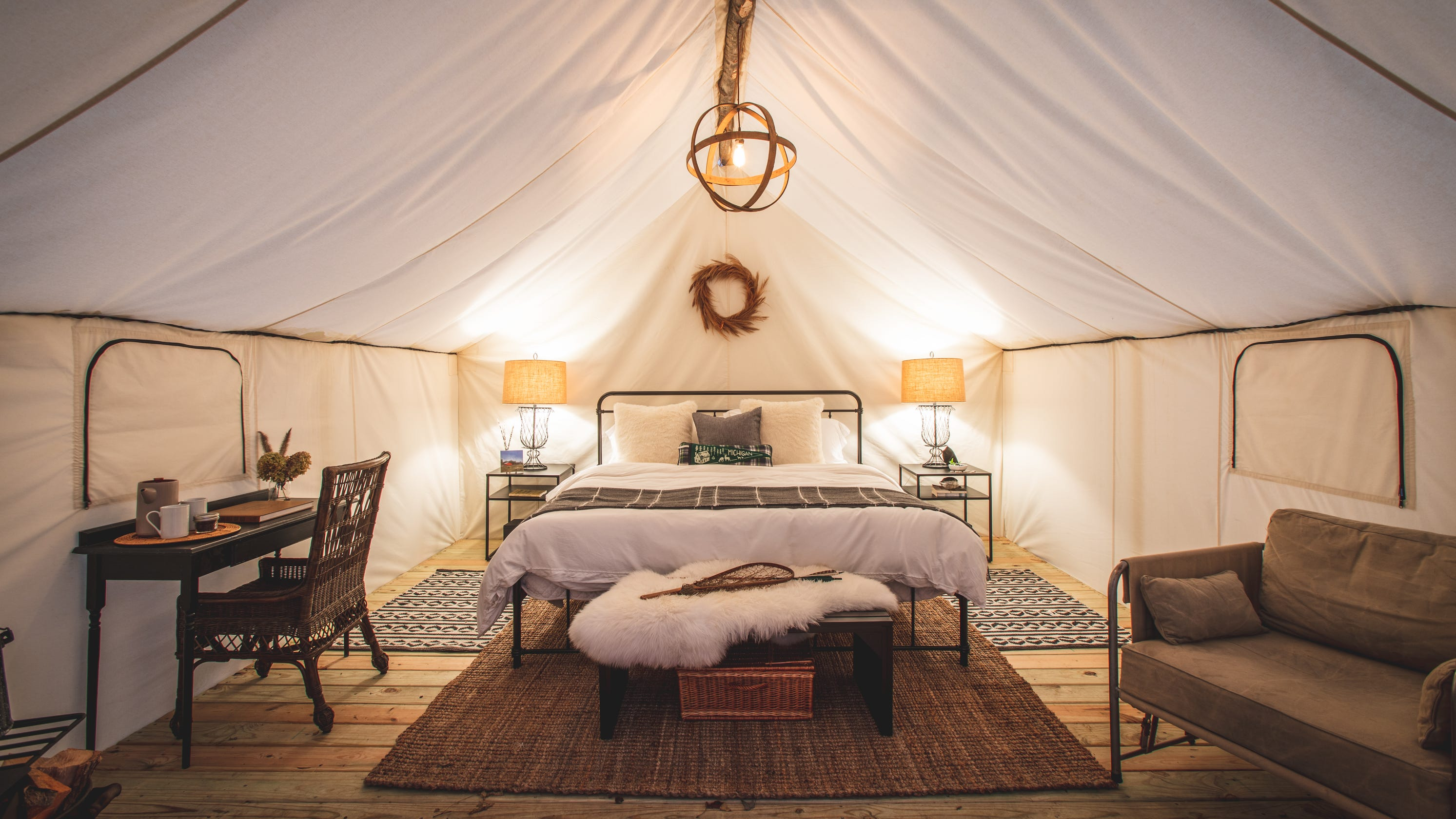 Glamping in Michigan: South Haven blueberry farm adds luxury