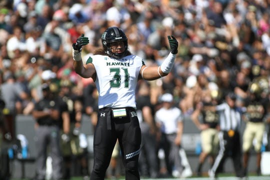 Hawaii linebacker Jahlani Tavai was drafted with the 43rd overall pick in the 2019 NFL draft. His name is pronounced jah-lan-ee tah-VIE