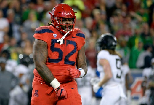 the latest e6ace b14ee Detroit Lions pick P.J. Johnson with final pick in 2019 NFL ...