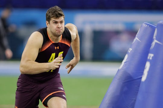 Iowa defensive lineman Anthony Nelson could be a Day 3 option for the Lions.