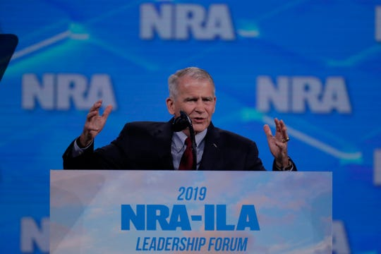 In a statement read to members of the group Saturday, North said he believes a committee should be set up to review the NRA's finances.