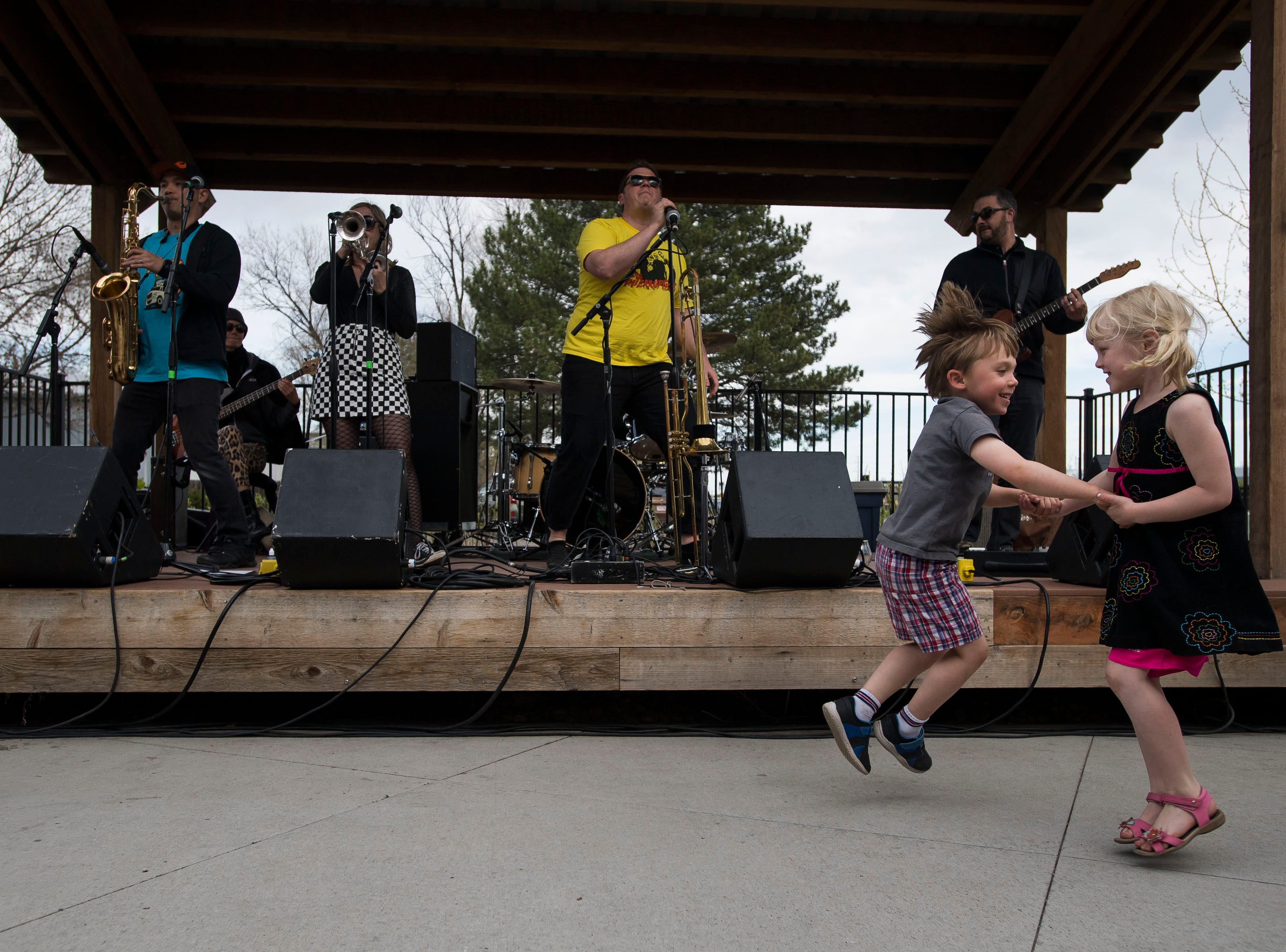 12 Cents for Martin bucks off their set at Odell Brewing Co. during the FoCoMX XI music festival on Saturday, April 27, 2019, in Fort Collins, Colo.