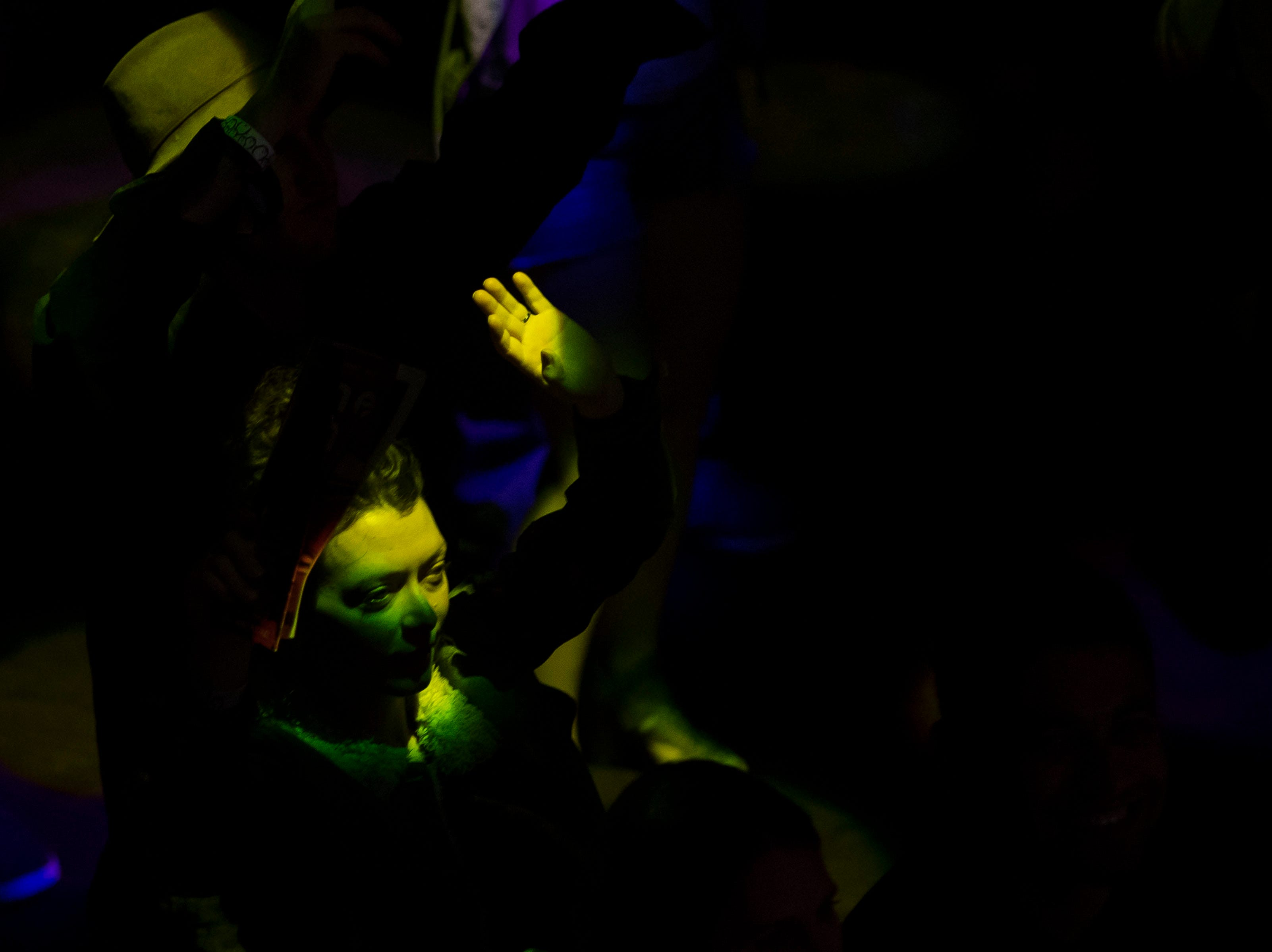 Audience members dance as Los Mocochetes performs at Washington's during the FoCoMX XI music festival on Friday, April 26, 2019, in Fort Collins, Colo.