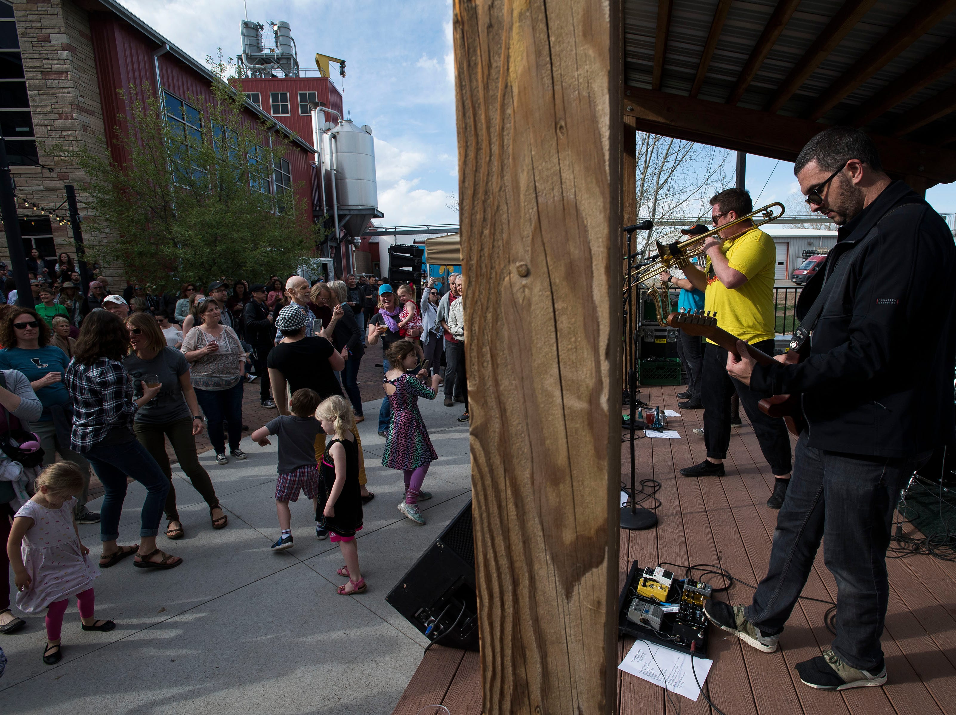 12 Cents for Martin plays the patio at Odell Brewing Co. during the FoCoMX XI music festival on Saturday, April 27, 2019, in Fort Collins, Colo.