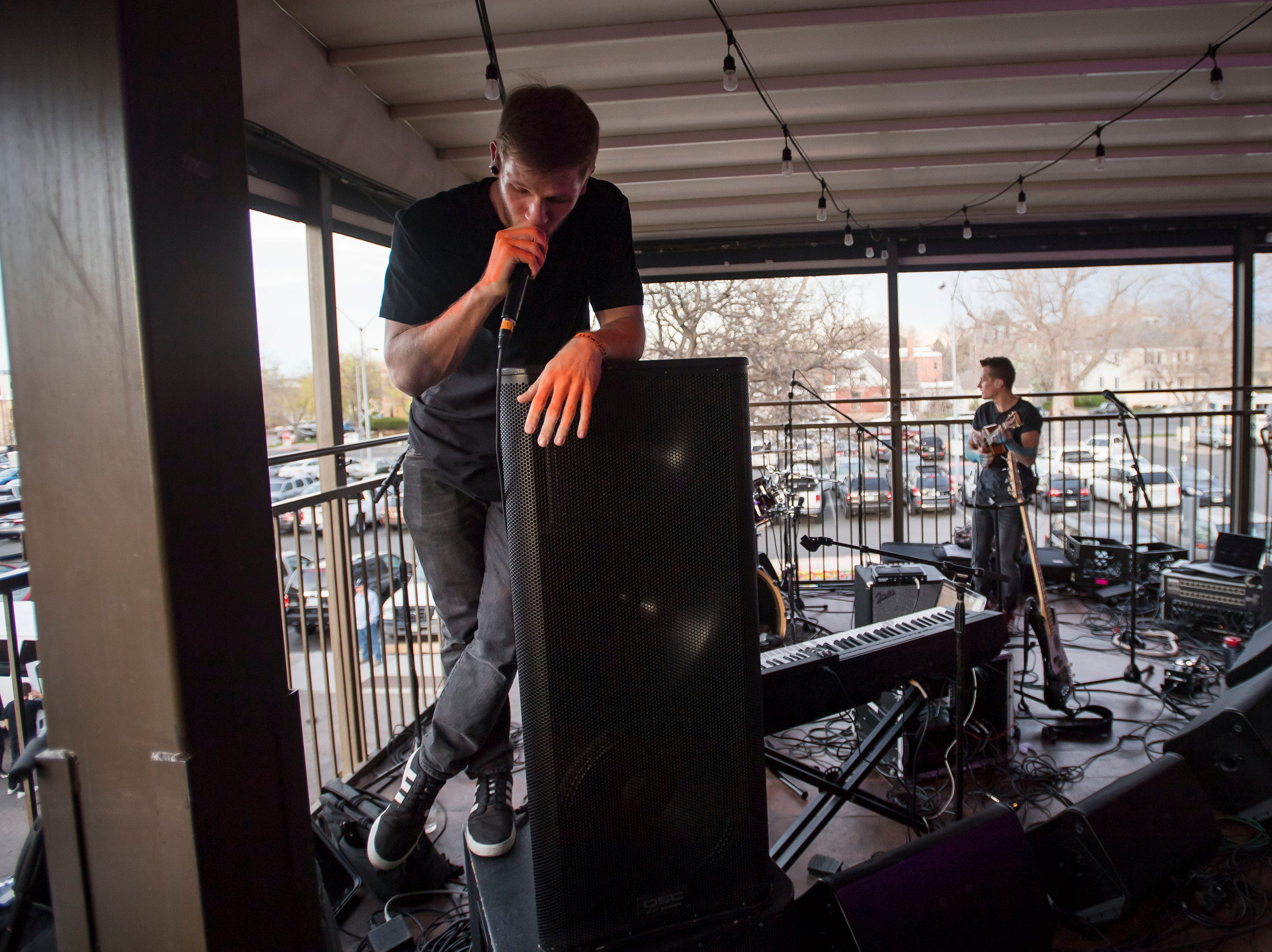 Glass Cases perform at Tony's bar & Rooftop during the FoCoMX XI music festival on Friday, April 26, 2019, in Fort Collins, Colo.