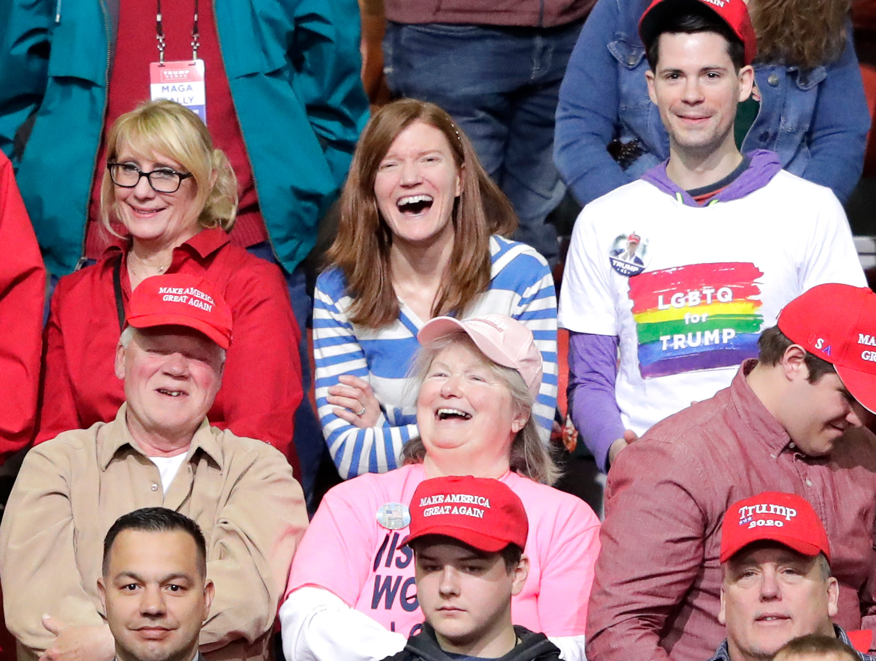 Supporters listen to  Rep. Sean Duffy during President Donald J. TrumpÕs Make America Great Again Rally on Saturday, April 27, 2019, at the Resch Center in Green Bay, Wis.
