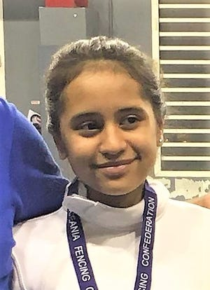 Anica Camacho, a 14-year-old high school freshman, won her second bronze medal in cadet team fencing.