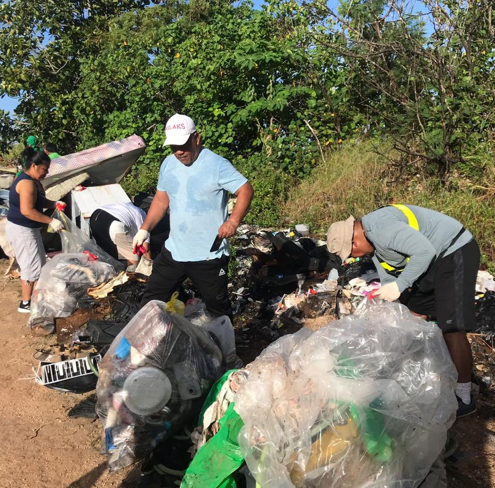 Local organizations, FAS organizations clean up in Dededo