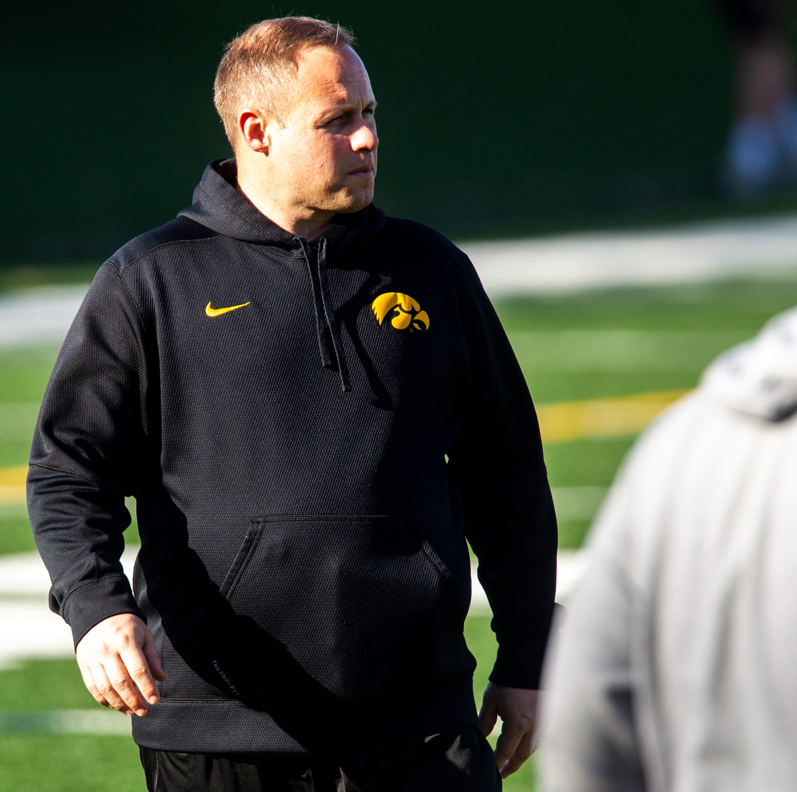 Iowa linebackers coach Seth Wallace talks about a fluid depth chart and A.J. Epenesa