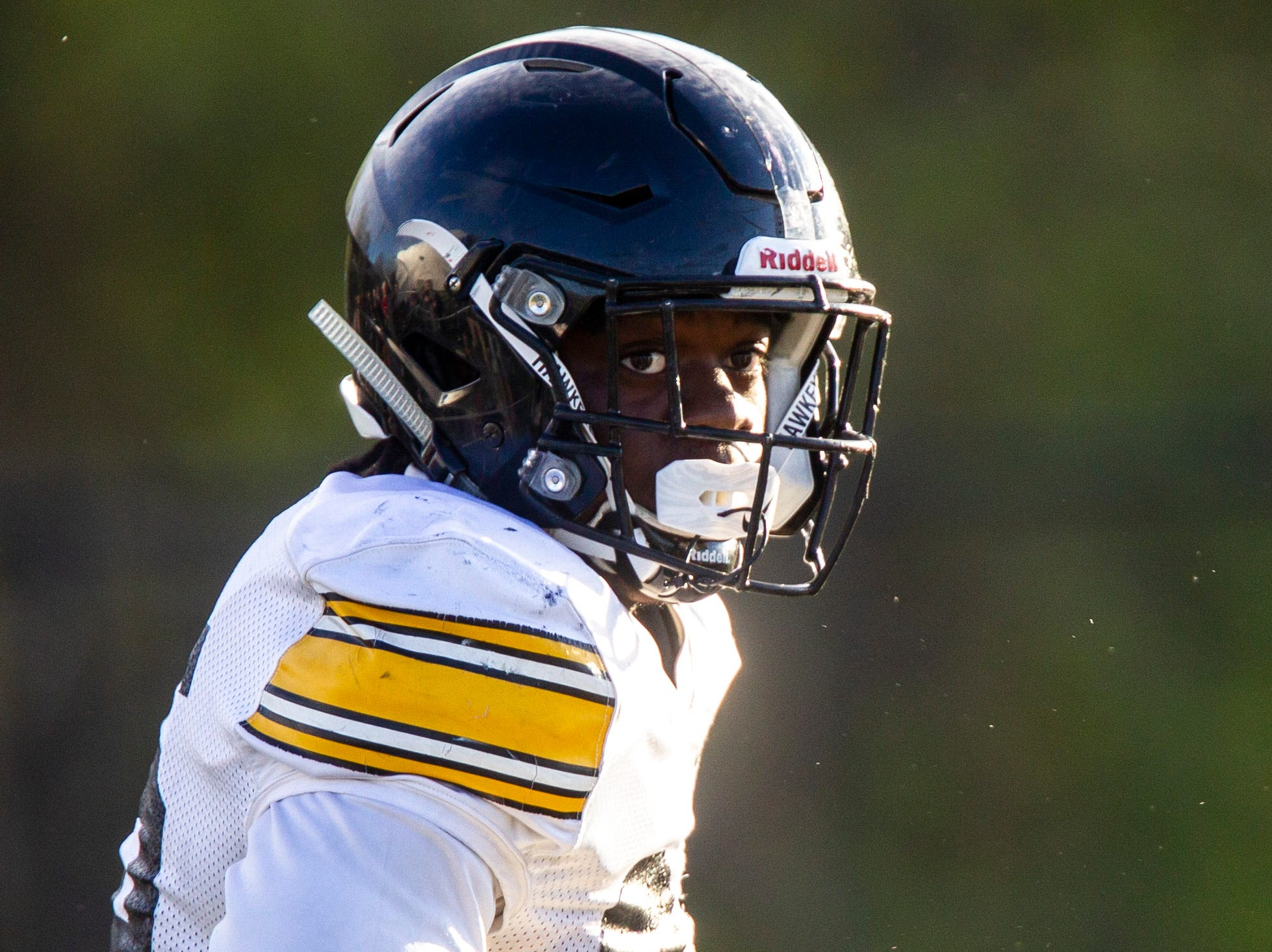 Iowa linebacker Jayden McDonald (25) is pictured during the final spring football practice, Friday, April 26, 2019, at the University of Iowa outdoor practice facility in Iowa City, Iowa.