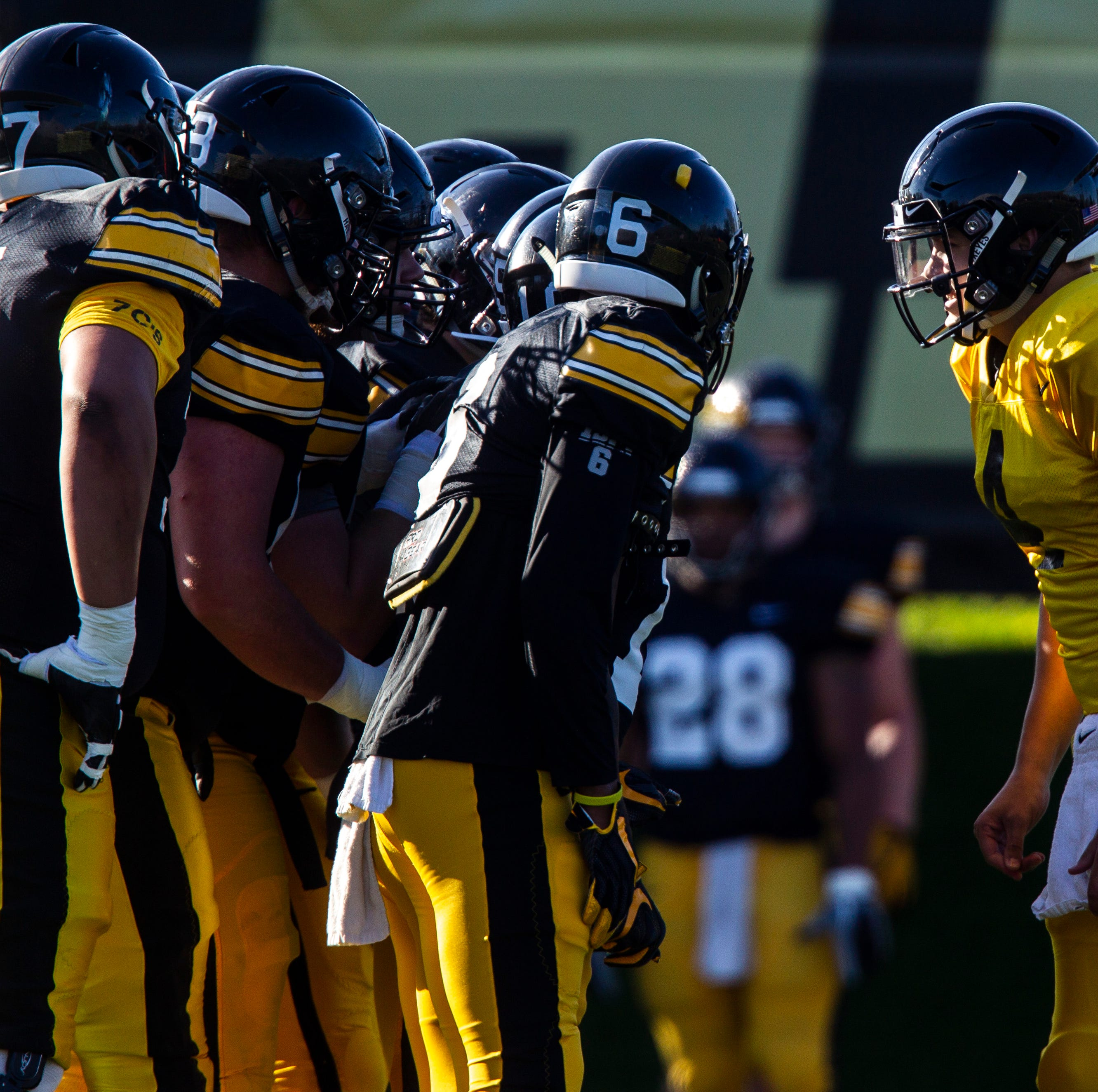 Iowa quarterback Nate Stanley, firmly in control, tries to elevate the players around him