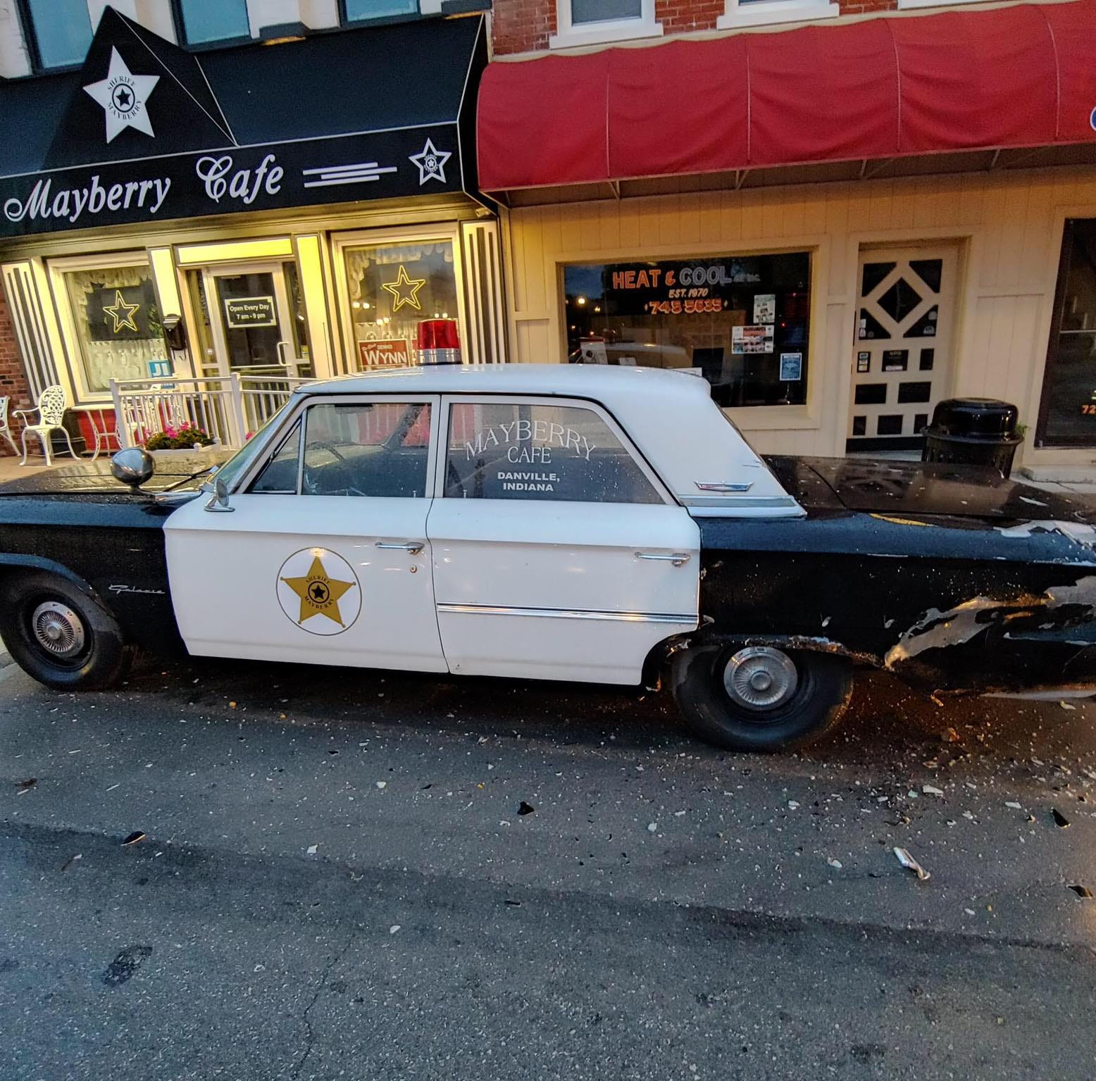 Iconic 'Mayberry Car' in Danville damaged by hit-and-run driver