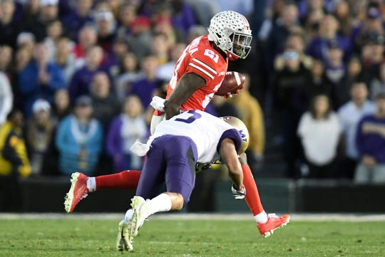 Colts coach Frank Reich was mesmerized by Ohio State wideout Parris Campbell at the combine.