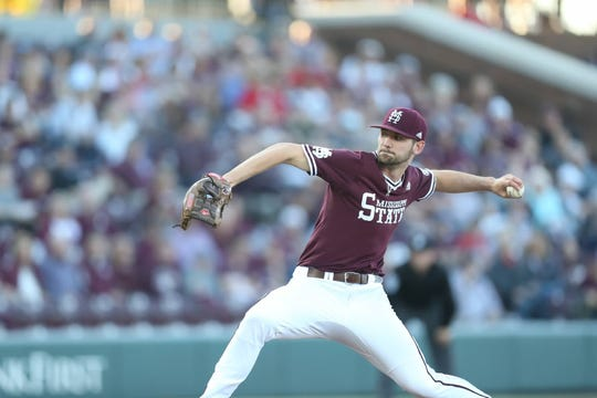 Mississippi State red-shirt junior pitcher Ethan Small had 10 strikeouts in the Bulldogs' 7-2 win over Central Michigan on Saturday.