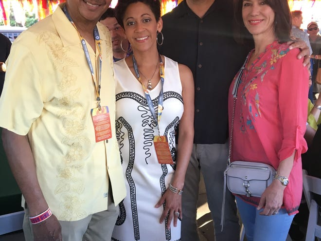 Kay Prejean and Jerry Prejean celebrate Festival International with Jennifer Jackson and Chip Jackson