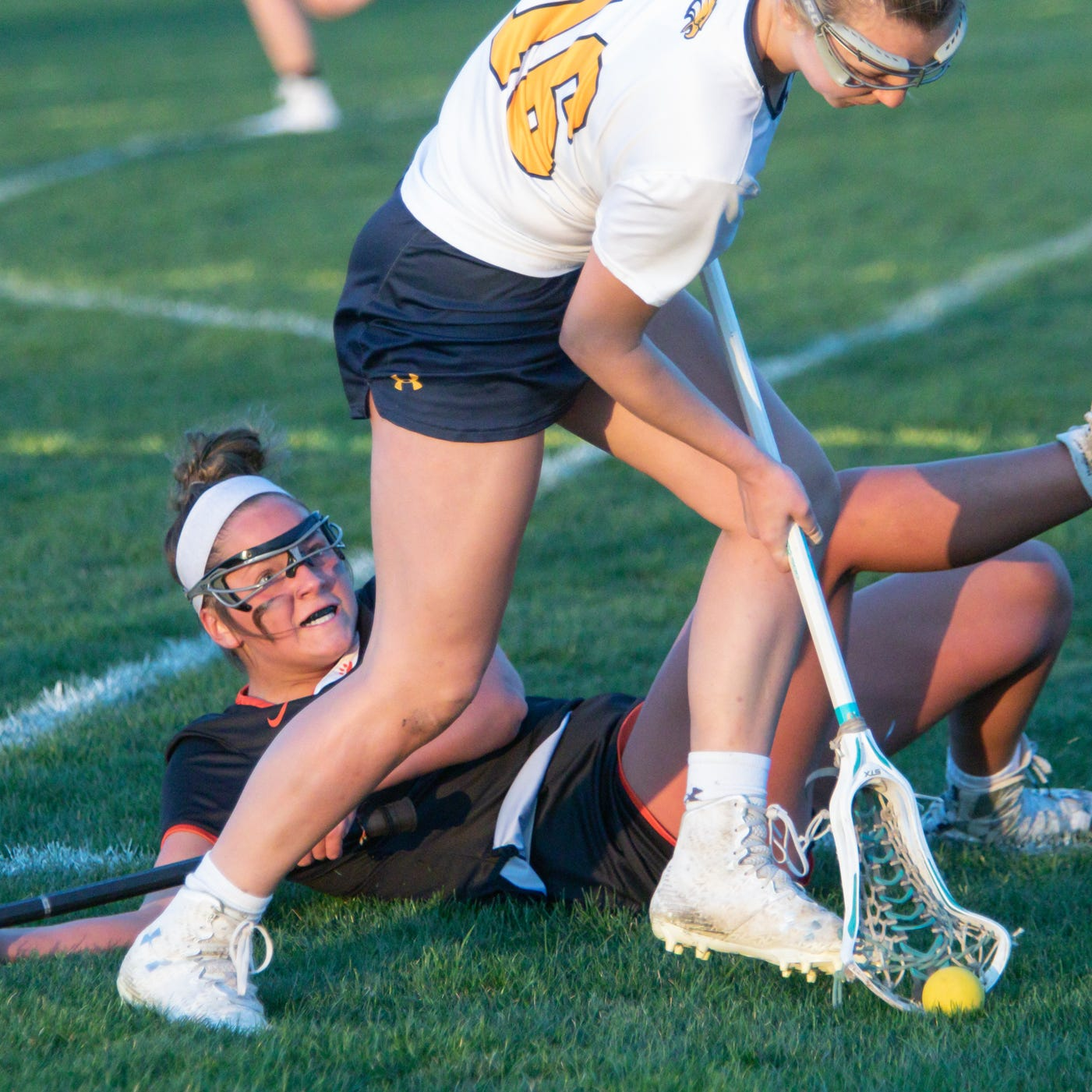 Motivated by losses, Salazar scores 7 goals in Hartland lacrosse win over Brighton