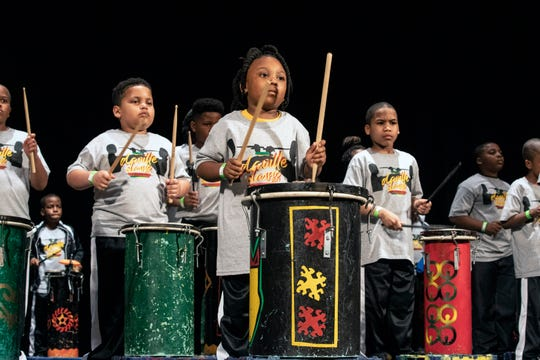 Young members of the River City Drum Corp Pipe Drums opened up a night of entertainment at the Palace Theatre during the 13th annual Da'Ville Classic Drumline Showcase. 4/27/19