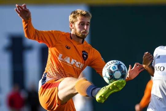 Forward Alex Bruce scored Lansing Ignite's second goal in the team's 2-2 draw with North Texas SC on Saturday night.