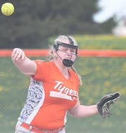 Mansfield Senior's Briana Perry had a big game in a win over Mansfield Christian as the Lady Tygers move up to No. 9 in the Richland County Softball Power Poll.