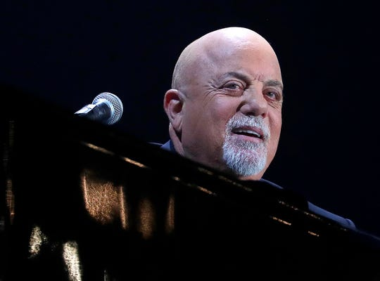 "Billy Joel performs ""The Entertainer"" for fans at Miller Park on April 26, 2019."