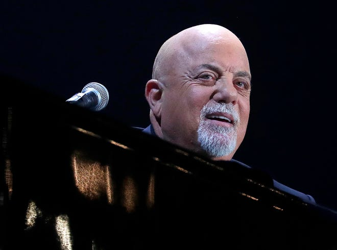 Billy Joel performs at Miller Park in Milwaukee on April 26, 2019.