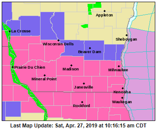 Milwaukee and surrounding counties will be under a winter storm warning until 10 p.m.