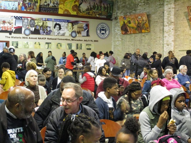 Hundreds gathered to celebrate Dontre Day at the Wisconsin Black Historical Society.