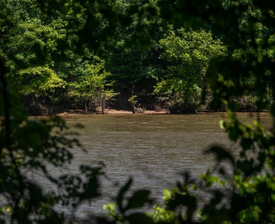 The site of the now destroyed Tyler Goodwin Bridge over the Alabama River between Montgomery and Millbrook is shown on Friday April 26, 2019. Willie Edwards, Jr., was forced to jump to his death from the bridge at gunpoint in 1957.