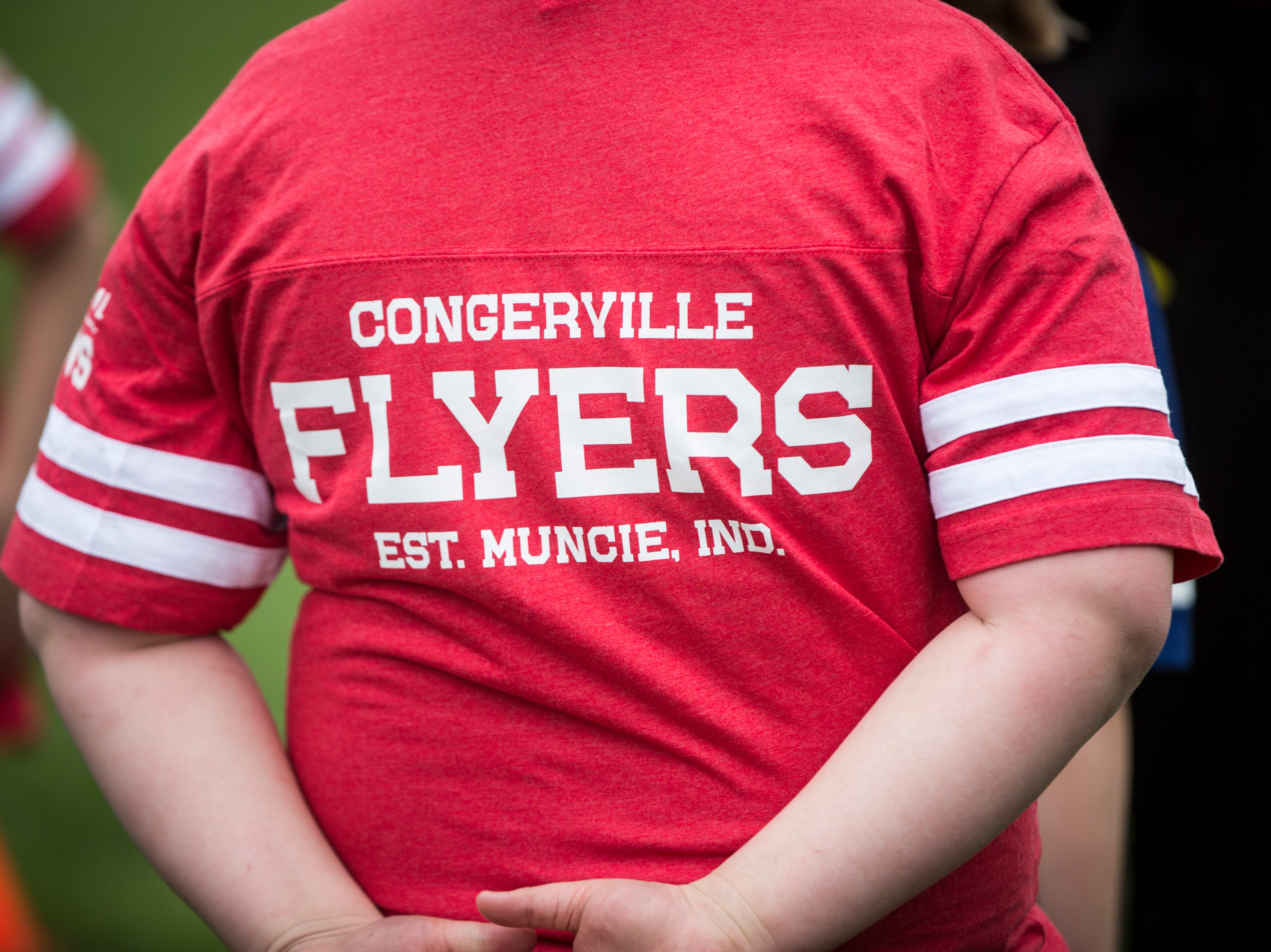 Hundreds gather downtown on April 27 during the Draft Day Tailgate event at Canan Commons. The celebration with the Colts honored Muncie as the home of one of the original teams of the NFL, the Congerville Flyers.