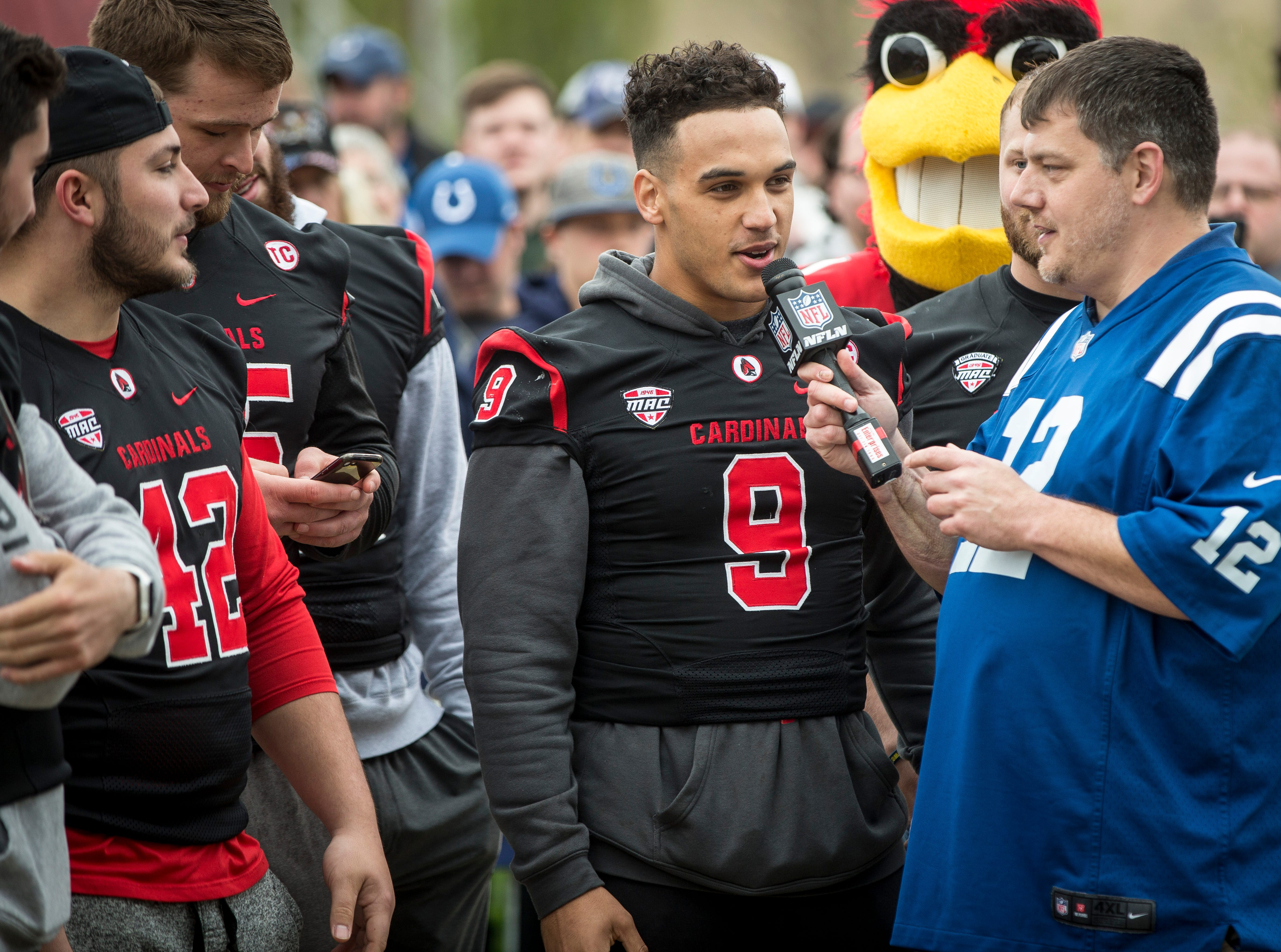 Ball State's football team got a chance to announce a second draft pick live from Muncie. The team was able to announce the Baltimore Ravens pick on live TV.
