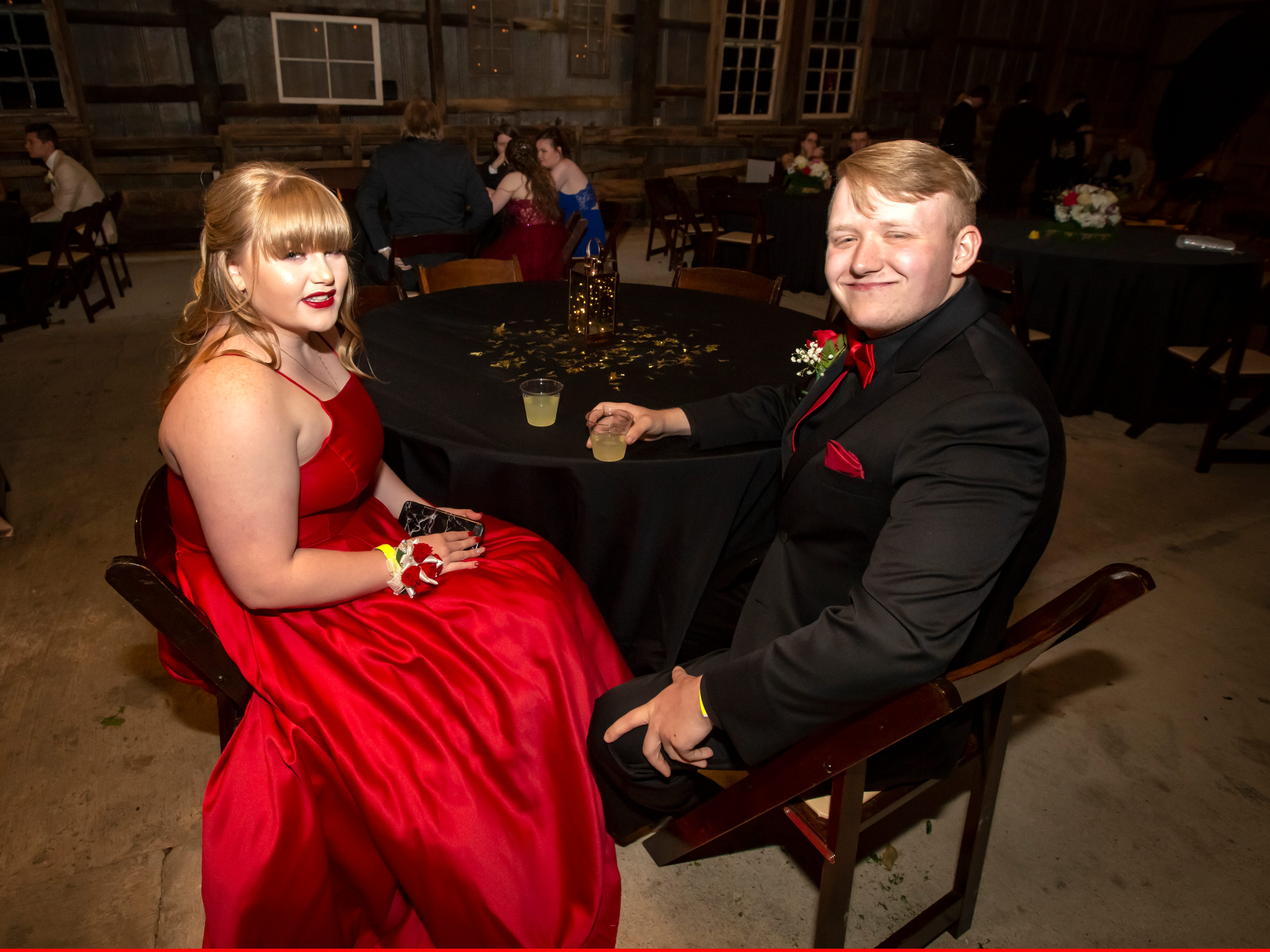 Kassidy Cawthron and Todd Simpson at the Smyrna High School prom held at the Grove, Friday, April 26, 2019.