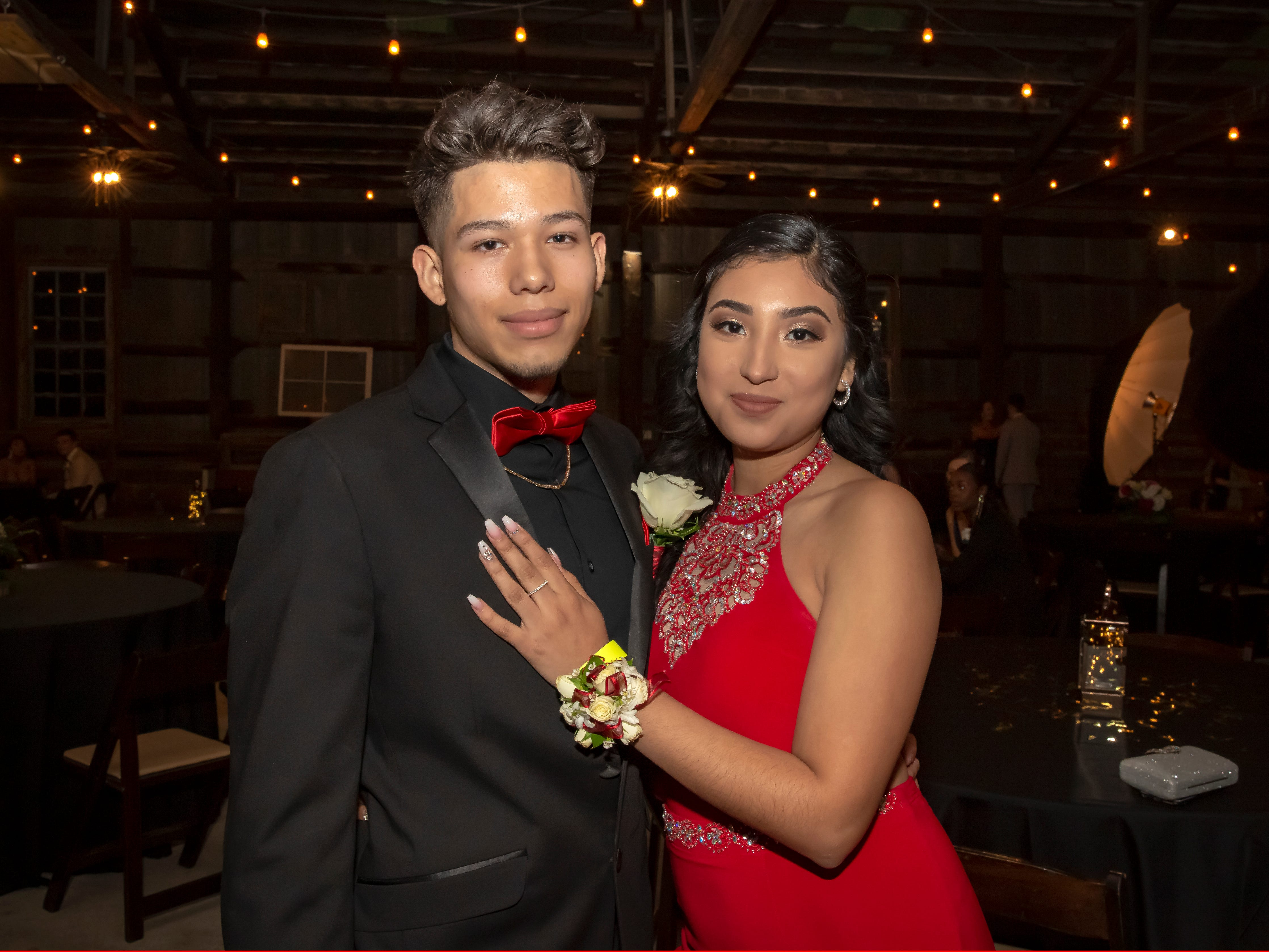 Omar Rivera and Kimberly Tapia at the Smyrna High School prom held at the Grove, Friday, April 26, 2019.