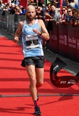 Scott Wietecha wins the St. Jude Rock and Roll Marathon for the seventh time Saturday, April 27, 2019, in Nashville, Tenn.