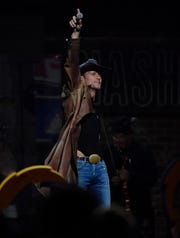 Tim McGraw performs after the conclusion of the fourth round of the NFL Draft  Friday, April 26, 2019 in Nashville, Tenn.