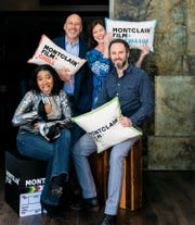 Pamm Malveaux, Bob Feinberg, Evelyn Colbert and Reuben Atlas have some fun at the Montclair Film headquarters.
