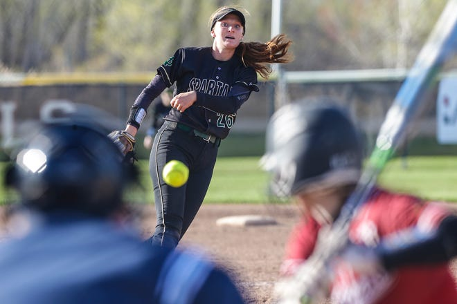 Oshkosh North's Syd Supple pitches against Fond du Lac on Friday in Fond du Lac.