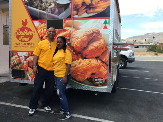 Kenny Townsend and Jamie Griffin operate Southern Fried, a food truck open several nights a week in Desert Hot Springs.