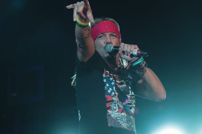 Bret Michaels performs at the Stagecoach country music festival, Indio, Calif., April 26, 2019.