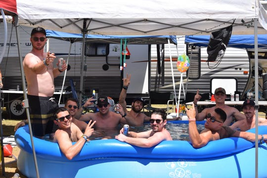 Scenes from the campground at the Stagecoach country music festival in Indio, Calif. on April 26, 2019.