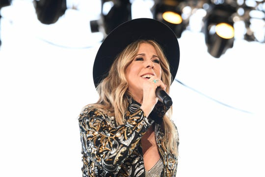 Rita Wilson performs in the Palomino tent during the Stagecoach country music festival in Indio, Calif. on April 27, 2019.