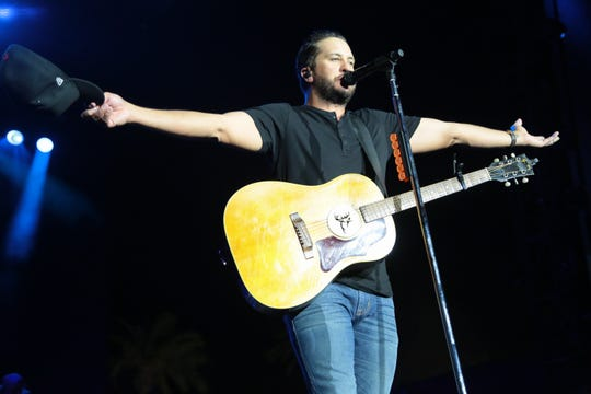 Luke Bryan performs on the Mane Stage at the Stagecoach country music festival, Indio, Calif., April 26, 2019.