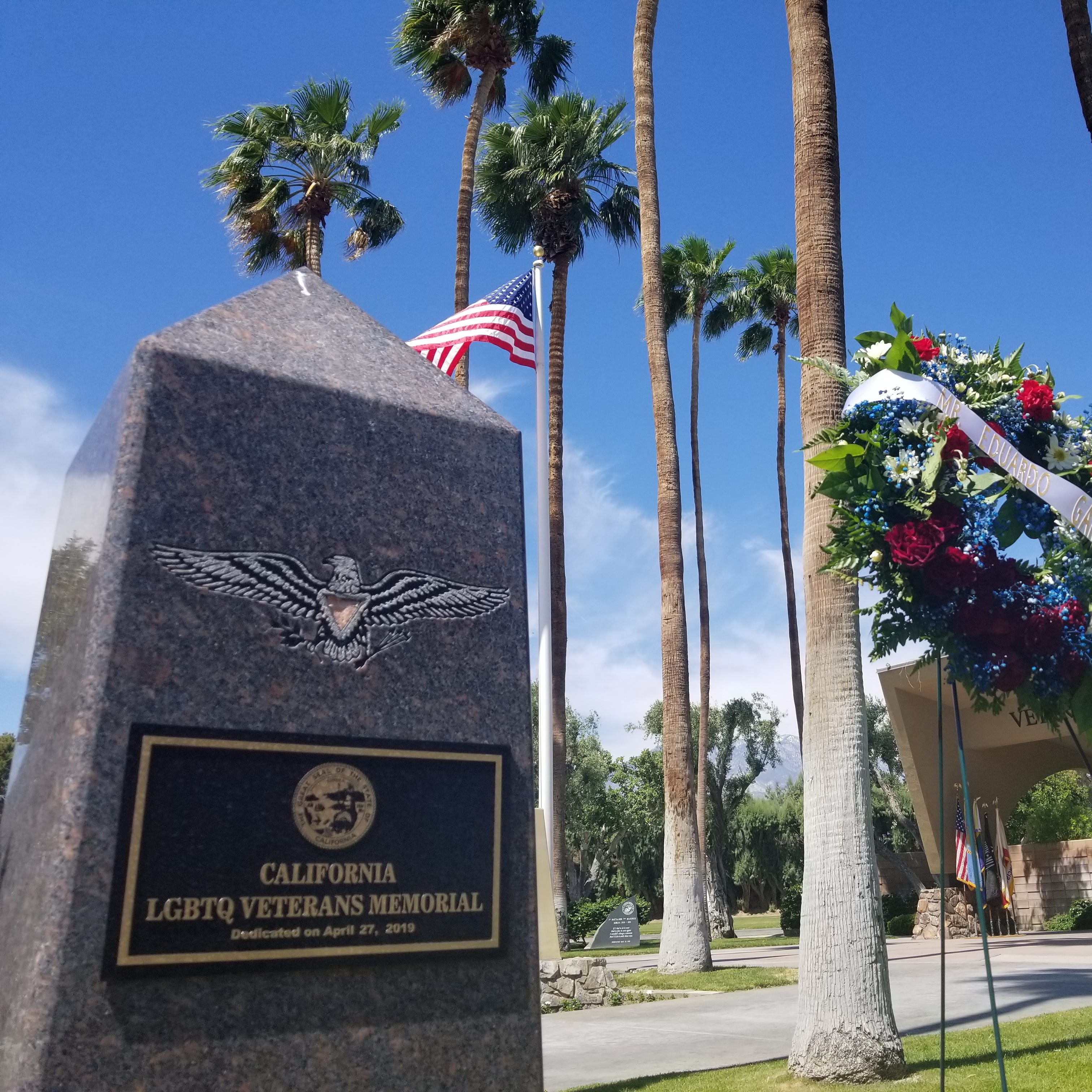 Cathedral City is now home to the state's memorial honoring LGBTQ veterans