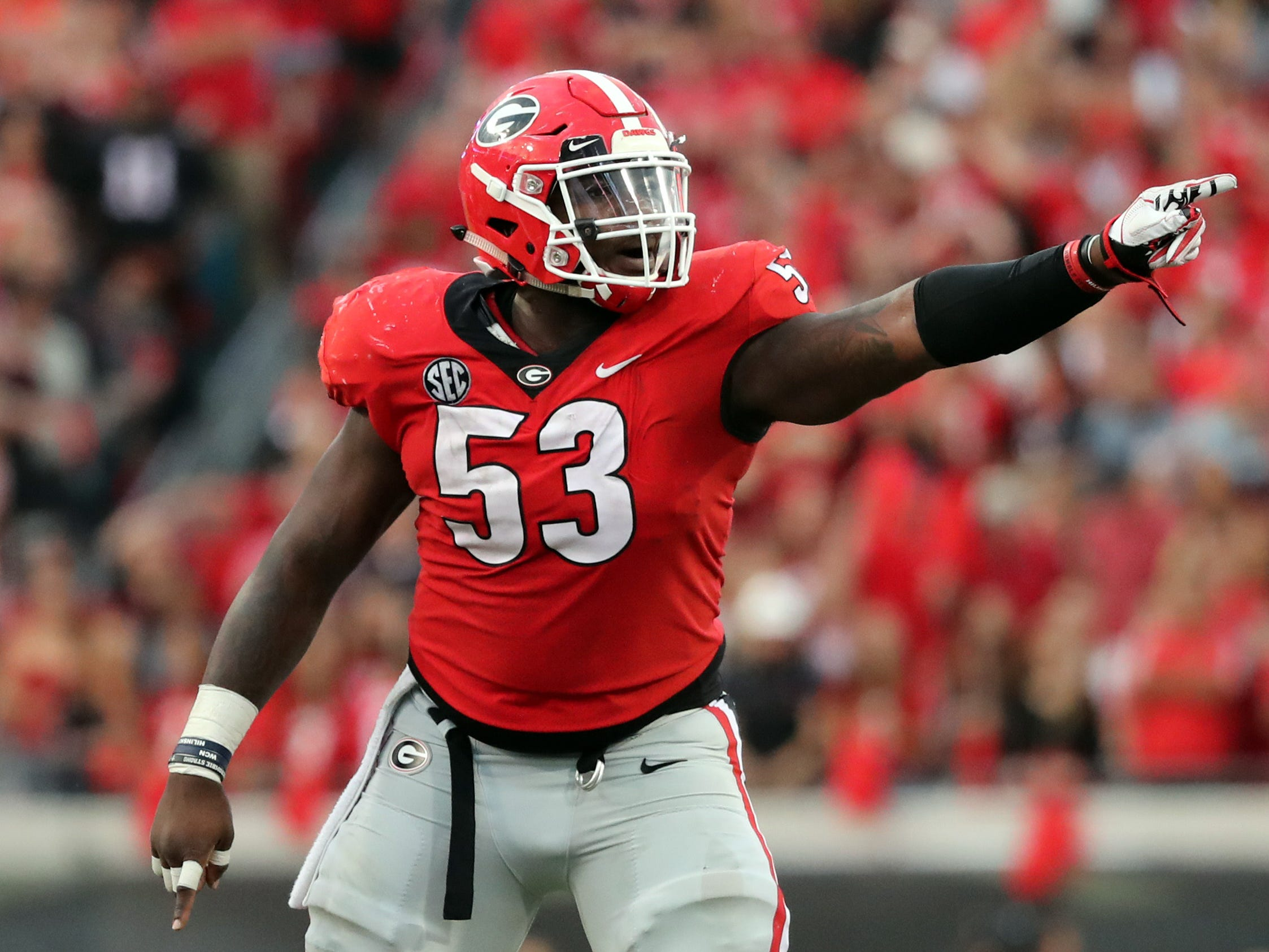 The Cardinals selected Georgia center Lamont Gaillard with their second pick in the sixth round of the NFL draft.