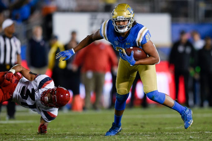 The Cardinals selected UCLA tight end Caleb Wilson with their third pick in the seventh round of the NFL draft.