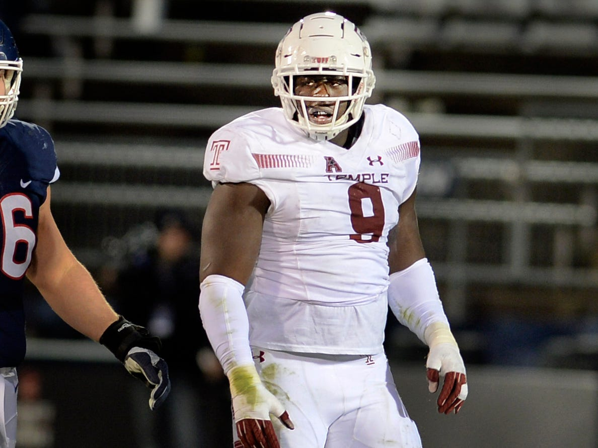 The Cardinals selected Temple defensive end Michael Dogbe with their second pick in the seventh round of the NFL draft.