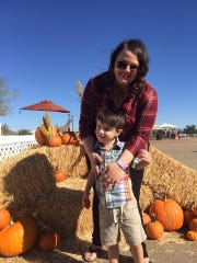Hannah Gruver-Green and her son Kai.