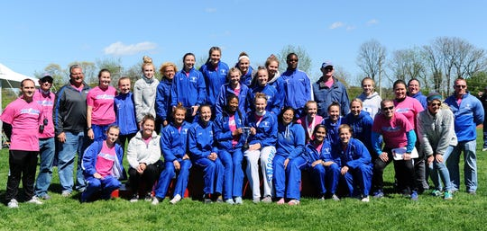 The Cedar Crest girls team was all smiles after capturing their fourth straight county title on Saturday.