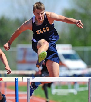 Hurdler Elijah Herb was one of the key contributors to the Elco boys track and field team's Section 3 title.